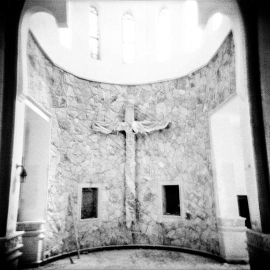 Baghdad, Iraq - 04.10.2013: A church during repair in southern Baghdad.